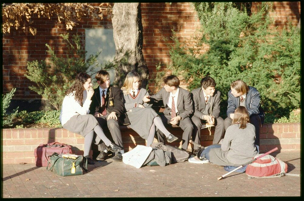 Melbourne High School Students, 1980s. Photographer Rennie Ellis. State Library Victoria, H2012.140/1824