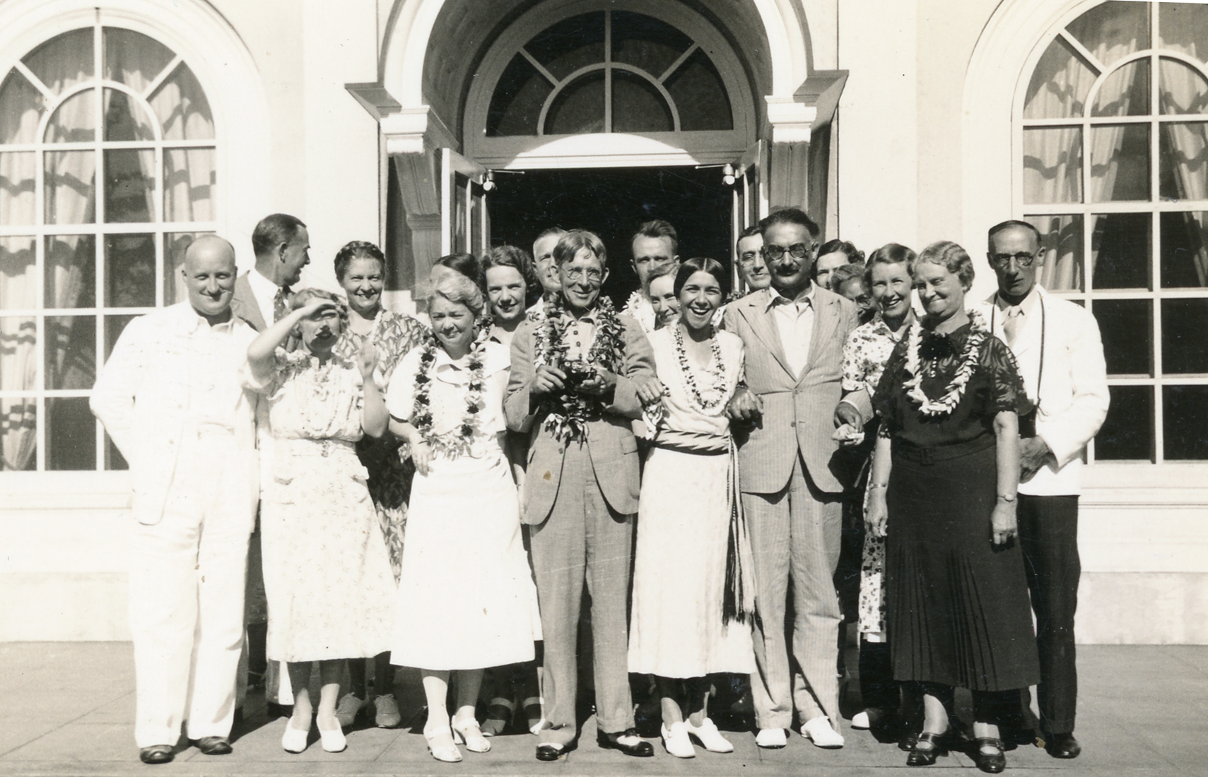 Delegates to the 1936 Hawai'i Seminar Conference on Native Education in Pacific Countries, <i>Journal of Anthropological Visit to United States and Europe, 1936/37</i>. Tindale Papers, South Australian Museum Archives, AA 338/5/26/12/1